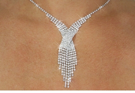 <Br>            LEAD & NICKEL FREE!!<Br>W18748NE - GENUINE AUSTRIAN<Br> CRYSTAL NECKLACE & EARRING<Br>      SET FROM $13.81 TO $25.50