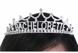 "<bR>          LEAD & NICKEL FREE!!<bR>W19098T - GENUINE AUSTRIAN<Br>    CRYSTAL PRINCESS STYLED<bR>       ""BACHELORETTE"" TIARA<Br>               $11.25 TO $25.00"