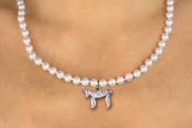"""<Br>                     LEAD & NICKEL FREE!! <Br>       W19444N -  JEWISH  """"CHAI""""  (LIFE) <BR> CHARM ON 6MM PEARL BEAD NECKLACE <BR>            FROM $4.73 TO $10.50 �2012"""