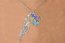 <Br>               LEAD & NICKEL FREE!! <Br>W19657N - ELEGANT AUSTRIAN CRYSTAL <Br>ACCENTED ANGEL WING PENDANT AND <Br>CRYSTAL AUTISM AWARENESS PUZZLE <BR>     NECKLACE FROM $7.65 TO $17.00<BR>                                    �2012