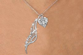 <Br>                     LEAD & NICKEL FREE!! <Br> W19686N - ELEGANT AUSTRIAN CRYSTAL <Br>    ACCENTED ANGEL WING PENDANT AND <Br>          AUTISM PUZZLE HEART CHARM & <BR>          NECKLACE FROM $6.19 To $13.75<BR>                                        �2012