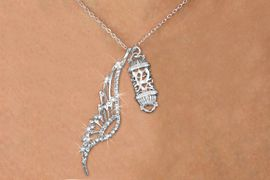 <Br>               LEAD & NICKEL FREE!! <Br>W19688N - ELEGANT AUSTRIAN CRYSTAL <Br>ACCENTED ANGEL WING PENDANT AND <Br>DETAILED JEWISH MEZUZAH CHARM & <BR>     NECKLACE FROM $6.19 TO $13.75<BR>                                    �2012