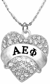 <BR>     LICENSED SORORITY JEWELRY MANUFACTURER<BR>           ALPHA EPSILON PHI  SORORITY NECKLACE<BR>                 NICKEL, LEAD,  & CADMIUM FREE! <BR>                                 HYPOALLERGENIC<BR>                       EXCLUSIVELY OURS W1745N1<BR>               FROM $7.90 TO $12.50 EACH �2015