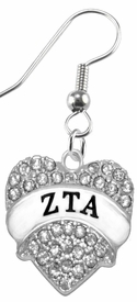 <BR>      LICENSED SORORITY JEWELRY MANUFACTURER<BR>           ZETA TAU ALPHA SORORITY EARRING<BR>                 NICKEL, LEAD,  & CADMIUM FREE! <BR>                       EXCLUSIVELY OURS W1739E1<BR>               FROM $7.90 TO $12.50 EACH �2015 <BR>