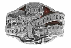 <Br>MADE IN THE USA, LEAD & NICKEL FREE!!<Br>   W17306P - SMALL PEWTER AND RED <Br>     ENAMEL AMERICAN FIRE FIGHTER<BR>                          TACK PIN $2.36