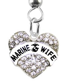 """<BR>       """"MARINE WIFE""""  EXCLUSIVELY OURS!!   <Br>               AN ALLAN ROBIN DESIGN!!   <BR>        NICKEL, LEAD & CADMIUM FREE!!   <BR>W1811E1- WHOLESALE  $14.68 EACH �2015"""