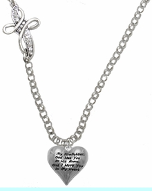 """"""" My Firefighter, God Has You In His Arms, And  I Have You In My Heart """"<BR>                    No Nickel, Lead, Or Poisonous Cadmium In Necklace<br>                              W1900N35 Crystal Cross Rolo Chain Necklace <BR>                                                               $12.38 �2017"""