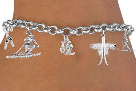 <BR>            NEW 5 CHARM DOUBLE CRYSTAL ADJUSTABLE<BR>       LOBSTER CHAIN CHARM BRACELET. LEAD, NICKLE, <BR>            & CADMIUM FREE!  SUBSTITUDE THE MIDDLE<BR>          CHARM WITH ANY OF THE 126 CHARMS BELOW.<BR>                W21372B  FROM $11.75 TO $17.50 �2014