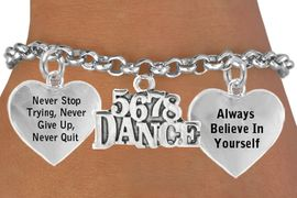 "<BR>              "" 5 6 7 8 DANCE "" ADJUSTABLE CHARM BRACELET WHOLESALE <bR>                 W21468B - THE NEW WAY TO EXPRESS LOVE, MOTIVATION,<BR>                    POSITIVE, AFFIRMATIVE EXPRESSIONS, CHARM BRACELET <BR>                                                               $11.38 EACH  �2014"