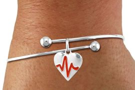 "<BR>                                  NICKEL FREE & ADJUSTABLE NECKLACE ! <BR>                                                         ""THE PERFECT GIFT"",<BR>                               ""Your Love Makes My Heart Beat"","" I Love You"", Or<BR>                      In Recognition Of ""Women's Or Children's Heart Disease""<BR>                           "" HEARTBEAT "" ADJUSTABLE FASHION BRACELET<BR>                                AN ORIGINAL ALLAN ROBIN CUSTOM DESIGN<br>                                             WHOLESALE CHARM BRACELET <BR>                                           LEAD, CADMIUM & NICKEL FREE!!  <BR>                                          W21566B-ADJUSTABLE FASHION  <BR>                             BRACELET FROM $4.90 TO $5.85 EACH! &#169;2015"