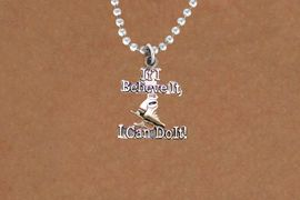 "<BR>       "" If I Believe It, I Can Do It! ""18 INCH BALL CHAIN ADJUSTABLE NECKLACE<BR>                               AN ORIGINAL ALLAN ROBIN CUSTOM DESIGN<br>                               ICE SKATING WHOLESALE CHARM NECKLACE <BR>                                           LEAD, CADMIUM & NICKEL FREE!!  <BR>W21552N-18 INCH BALL CHAIN, WITH SILVER TONE CHAIN ADJUSTABLE NECKLACE <BR>                             FITS ALL SIZES FROM $5.60 TO $9.85 EACH! &#169;2015"