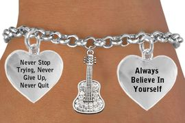 <BR>                                            GUITAR CRYSTAL CHARM ADJUSTABLE CHARM BRACELET WHOLESALE <bR>                                     W21434B - THE NEW WAY TO EXPRESS LOVE, MOTIVATION, CHARM BRACELET <BR>                                                                                                $11.68 EACH �2014