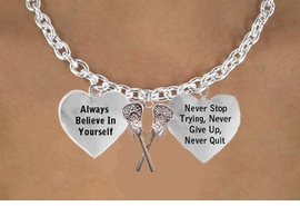 "<BR>    GENUINE ""CRYSTAL LACROSSE STICKS"" CHARM NECKLACE WHOLESALE <bR>                 W21477N9 - THE NEW WAY TO EXPRESS LOVE, MOTIVATION,<BR>          POSITIVE, AFFIRMATIVE EXPRESSIONS, THAT WILL GO PERFECTLY<br>        WITH ANOTHER POSITIVE AFFIRMATION CHARM IF YOU WANT  ONE,<BR>   MORE CHOICES LOOK BELOW,  CHARM NECKLACE FROM $9.73 TO $14.58<BR>                                    CostumeJewelryWholesale.com �2014"