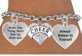 <BR>        BEAUTIFUL CRYSTAL CHEER HEART CHARM BRACELET WHOLESALE <bR>                 W21436B - THE NEW WAY TO EXPRESS LOVE, MOTIVATION,<BR>          POSITIVE, AFFIRMATIVE EXPRESSIONS, THAT WILL GO PERFECTLY<br>        WITH ANOTHER POSITIVE AFFIRMATION CHARM IF YOU WANT  ONE,<BR>   MORE CHOICES LOOK BELOW,  CHARM BRACELET FROM $9.73 TO $14.58<BR>                                    CostumeJewelryWholesale.com �2014