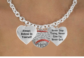 "<BR>       BEAUTIFUL "" CRYSTAL SOFTBALL "" CHARM NECKLACE WHOLESALE <bR>                 W21471N - THE NEW WAY TO EXPRESS LOVE, MOTIVATION,<BR>          POSITIVE, AFFIRMATIVE EXPRESSIONS, THAT WILL GO PERFECTLY<br>        WITH ANOTHER POSITIVE AFFIRMATION CHARM IF YOU WANT  ONE,<BR>   MORE CHOICES LOOK BELOW,  CHARM NECKLACE FROM $9.73 TO $14.58<BR>                                    CostumeJewelryWholesale.com �2014"