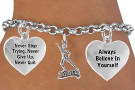 """<BR>                    """" DANCE """"  ADJUSTABLE CHARM BRACELET WHOLESALE <bR>                 W21490B - THE NEW WAY TO EXPRESS LOVE, MOTIVATION,<BR>                POSITIVE, AFFIRMATIVE EXPRESSIONS, CHARM BRACELET<BR>                                                         $11.38 EACH �2014"""