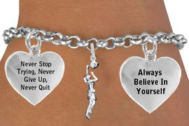 """<BR>                                            WOMEN'S BASKETBALL """" DUNK """" <BR>                                 ADJUSTABLE CHARM BRACELET WHOLESALE <bR>                    W21512B - THE NEW WAY TO EXPRESS LOVE, MOTIVATION,<BR>             POSITIVE, AFFIRMATIVE EXPRESSIONS, THAT WILL GO PERFECTLY<br>           WITH ANOTHER POSITIVE AFFIRMATION CHARM IF YOU WANT  ONE,<BR>      MORE CHOICES LOOK BELOW,  CHARM BRACELET FROM $9.73 TO $14.58<BR>                                       CostumeJewelryWholesale.com �2014"""