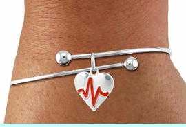 """<BR>                                  NICKEL FREE & ADJUSTABLE NECKLACE ! <BR>                                                         """"THE PERFECT GIFT"""",<BR>                               """"Your Love Makes My Heart Beat"""","""" I Love You"""", Or<BR>                      In Recognition Of """"Women's Or Children's Heart Disease""""<BR>                           """" HEARTBEAT """" ADJUSTABLE FASHION BRACELET<BR>                                AN ORIGINAL ALLAN ROBIN CUSTOM DESIGN<br>                                             WHOLESALE CHARM BRACELET <BR>                                           LEAD, CADMIUM & NICKEL FREE!!  <BR>                                          W21566B-ADJUSTABLE FASHION  <BR>                             BRACELET FROM $4.90 TO $5.85 EACH! &#169;2015"""