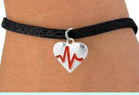 """<BR>                                  NICKEL FREE & ADJUSTABLE NECKLACE ! <BR>                                                         """"THE PERFECT GIFT"""",<BR>                               """"Your Love Makes My Heart Beat"""","""" I Love You"""", Or<BR>                      In Recognition Of """"Women's Or Children's Heart Disease""""<BR>                           """" HEARTBEAT """" ADJUSTABLE BLACK SUEDE  BRACELET<BR>                               AN ORIGINAL ALLAN ROBIN CUSTOM DESIGN<br>                                          WHOLESALE CHARM BRACELET <BR>                                        LEAD, CADMIUM & NICKEL FREE!!  <BR>                           W21562B-ANTIQUE WOVEN CHAIN SILVER TONE  <BR>                             BRACELET FROM $4.90 TO $5.85 EACH! &#169;2015"""
