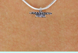 <BR>     WRESTLING MOM ADJUSTABLE SNAKE CHAIN NECKLACE<BR>                  AN ORIGINAL ALLAN ROBIN CUSTOM DESIGN<br>                                WHOLESALE CHARM NECKLACE <BR>                              LEAD, CADMIUM & NICKEL FREE!!  <BR>W21524N-SNAKE CHAIN, BRIGHT SILVER TONE ADJUSTALE NECKLACE<BR>                    FITS ALL SIZES FROM $5.60 TO $9.85 EACH! &#169;2014