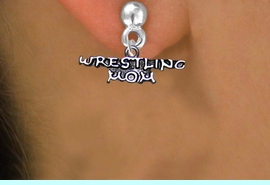 <BR>WRESTLING MOM BRIGHT SILVERTONE NON-ALLERGIC POST EARRINGS<BR>                           AN ORIGINAL ALLAN ROBIN CUSTOM DESIGN<br>                                         WHOLESALE CHARM EARRINGS <BR>                                       LEAD, CADMIUM & NICKEL FREE!!  <BR>                          W21539E-BRIGHT SILVER TONE POST EARRINGS <BR>                                       FROM $4.65 TO $8.45 EACH! &#169;2014