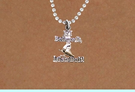 """<BR>       """" If I Believe It, I Can Do It! """"18 INCH BALL CHAIN ADJUSTABLE NECKLACE<BR>                               AN ORIGINAL ALLAN ROBIN CUSTOM DESIGN<br>                               ICE SKATING WHOLESALE CHARM NECKLACE <BR>                                           LEAD, CADMIUM & NICKEL FREE!!  <BR>W21552N-18 INCH BALL CHAIN, WITH SILVER TONE CHAIN ADJUSTABLE NECKLACE <BR>                             FITS ALL SIZES FROM $5.60 TO $9.85 EACH! &#169;2015"""