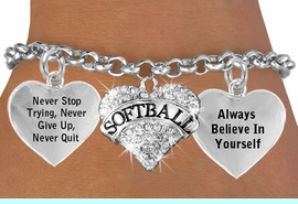 <BR>                      BEAUTIFUL CRYSTAL SOFTBALL HEART CHARM BRACELET WHOLESALE <bR>                 W21414B - THE NEW WAY TO EXPRESS LOVE, MOTIVATION,<BR>          POSITIVE, AFFIRMATIVE EXPRESSIONS, THAT WILL GO PERFECTLY<br>        WITH ANOTHER POSITIVE AFFIRMATION CHARM IF YOU WANT  ONE,<BR>   MORE CHOICES LOOK BELOW,  CHARM BRACELET FROM $9.73 TO $14.58<BR>                                    CostumeJewelryWholesale.com �2014