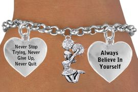 <BR>        CHEER CRYSTAL POM CHEERLEADER CHARM BRACELET WHOLESALE <bR>                 W21442B - THE NEW WAY TO EXPRESS LOVE, MOTIVATION,<BR>          POSITIVE, AFFIRMATIVE EXPRESSIONS, THAT WILL GO PERFECTLY<br>                          WITH ANOTHER POSITIVE AFFIRMATION CHARM<BR>                                  CHARM BRACELET  $11.38 EACH   &#169;2014