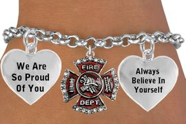 """<BR>                  GENUINE """" CRYSTAL FIREFIGHTER MALTESE CROSS """" CHARM<BR>                                 ADJUSTABLE CHARM BRACELET WHOLESALE <bR>                    W21498B - THE NEW WAY TO EXPRESS LOVE, MOTIVATION,<BR>             POSITIVE, AFFIRMATIVE EXPRESSIONS, THAT WILL GO PERFECTLY<br>           WITH ANOTHER POSITIVE AFFIRMATION CHARM IF YOU WANT  ONE,<BR>      MORE CHOICES LOOK BELOW,  CHARM BRACELET FROM $9.73 TO $14.58<BR>                                       CostumeJewelryWholesale.com �2014"""