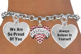 """<BR>                                  GENUINE """" CRYSTALFIREFIGHTER """" CHARM<BR>                                 ADJUSTABLE CHARM BRACELET WHOLESALE <bR>                    W21497B - THE NEW WAY TO EXPRESS LOVE, MOTIVATION,<BR>             POSITIVE, AFFIRMATIVE EXPRESSIONS, THAT WILL GO PERFECTLY<br>           WITH ANOTHER POSITIVE AFFIRMATION CHARM IF YOU WANT  ONE,<BR>      MORE CHOICES LOOK BELOW,  CHARM BRACELET FROM $9.73 TO $14.58<BR>                                       CostumeJewelryWholesale.com �2014"""