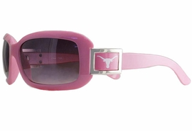 """<BR>      OFFICIALLY LICENSED COLLEGE!!<BR>W18110SG - PINK UNIVERSITY OF TEXAS<Br>""""LONGHORNS"""" LOGO SUNGLASSES<br>              FROM $5.63 TO $12.50"""