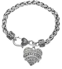 """<B>PARALEGAL VINTAGE ANTIQUE WHEAT CHAIN BRACELET</B><BR>     <BR>   <BR> LEAD, NICKEL & CADMIUM FREE!! <BR>     W1768B1 - ANTIQUED SILVER TONE AND <BR>     CLEAR CRYSTAL """"PARALEGAL"""" HEART CHARM <BR>   VINTAGE ANTIQUE WHEAT CHAIN  BRACELET<BR>  $9.68  EACH  �2013"""
