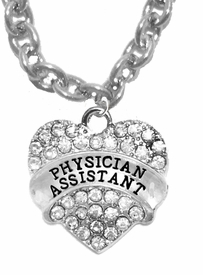 <BR>W1771N1 - PHYSICIANS ASSISTANT, GENUINE CRYSTAL HEART<br>             CABLE CHAIN NECKLACE, SAFE-HYPOALLERGENIC, <BR>           NICKEL, LEAD, CADMIUM FREE,  $10.38 EACH �2016