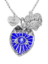 <BR>           POLICE, TE AMO ABUELA CHARM NECKLACE<BR>                             AN ALLAN ROBIN DESIGN!! <Br>                         CADMIUM, LEAD & NICKEL FREE!!  <Br>             W1329-463-1759N1 ON A CABLE CHAIN NECKLACE <BR>                              FROM $9.73 TO $14.58 �2016