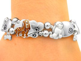 "<bR>   S2120B - "" PUPPY TIME""<BR>STRETCH CHARM BRACELET<BR>       FROM $3.94 TO $8.75"