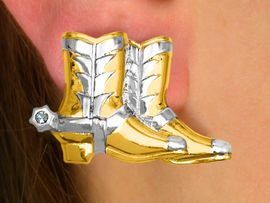 S2294EA - 2-STYLE WESTERN BOOTS<BR>     PIERCED EARRING  ASSORTMENT<Br>                      AS LOW AS $3.90