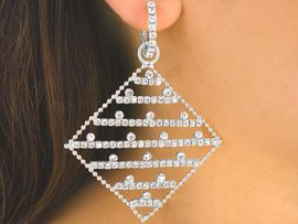 <br>   S2794E - AUSTRIAN CRYSTAL COVERED<bR>FLEXIBLE SILVER TONE PIERCED EARRINGS<Br>                           AS LOW AS $7.90