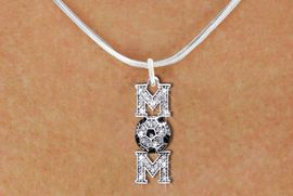"<BR>     SOCCER MOM NECKLACE WHOLESALE <bR>                    EXCLUSIVELY OURS!! <Br>               AN ALLAN ROBIN DESIGN!! <BR>      CLICK HERE TO SEE 1000+ EXCITING <BR>            CHANGES THAT YOU CAN MAKE! <BR>         LEAD, NICKEL & CADMIUM FREE!! <BR>    W1474SN - SILVER TONE SOCCER ""MOM"" <BR>      CLEAR CRYSTAL CHARM AND NECKLACE <BR>             FROM $5.40 TO $9.85 �2013"