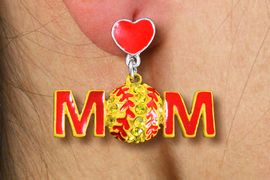 "<bR>      SOFTBALL MOM EARRINGS  WHOLESALE<BR>              LEAD & NICKEL FREE!! <BR> W20451E - YELLOW AUSTRIAN CRYSTAL <Br>  2-TIERED ""SOFTBALL MOM"" EARRINGS <Br>        FROM $6.19 TO $13.75 �2013"