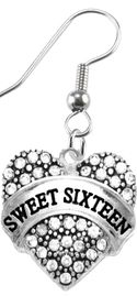 """<BR>     """"SWEET SIXTEEN""""  EXCLUSIVELY OURS!!   <Br>               AN ALLAN ROBIN DESIGN!!   <BR>                        HYPOALLERGENIC<BR>        NICKEL, LEAD & CADMIUM FREE!!   <BR>W1695E1- FROM $5.98 TO $12.85 �2015"""