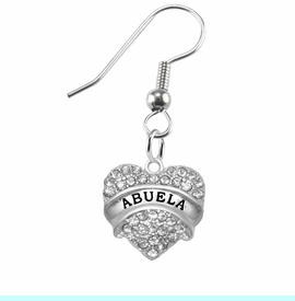 """<BR>                       THE """"PERFECT GIFT""""<BR>       """"ABUELA""""  EXCLUSIVELY OURS!!   <Br>               AN ALLAN ROBIN DESIGN!!   <br>                         HYPOALLERGENIC<BR>        NICKEL, LEAD & CADMIUM FREE!!   <BR>W1759E1- FROM $5.98 TO $12.85 ©2015"""
