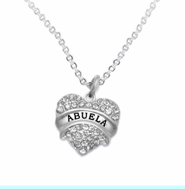 """<BR>                       THE """"PERFECT GIFT""""<BR>       """"ABUELA""""  EXCLUSIVELY OURS!!   <Br>               AN ALLAN ROBIN DESIGN!!   <br>                         HYPOALLERGENIC<BR>        NICKEL, LEAD & CADMIUM FREE!!   <BR>W1759N1- FROM $5.98 TO $12.85 ©2015"""