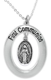 """<BR>                       THE """"PERFECT GIFT""""<BR>""""FIRST COMMUNION""""  EXCLUSIVELY OURS!!   <Br>               AN ALLAN ROBIN DESIGN!!   <br>                         HYPOALLERGENIC<BR>        NICKEL, LEAD & CADMIUM FREE!!   <BR>W444F1- FROM $5.98 TO $12.85 �2015"""