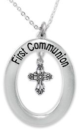 """<BR>                       THE """"PERFECT GIFT""""<BR>""""FIRST COMMUNION""""  EXCLUSIVELY OURS!!   <Br>               AN ALLAN ROBIN DESIGN!!   <br>                         HYPOALLERGENIC<BR>        NICKEL, LEAD & CADMIUM FREE!!   <BR>W508F1- FROM $5.98 TO $12.85 �2015"""
