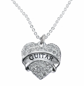 <BR> GUITAR NECKLACE EXCLUSIVELY OURS   <Br>               AN ALLAN ROBIN DESIGN!!   <br>      ADJUSTABLE -  HYPOALLERGENIC<BR>        NICKEL, LEAD & CADMIUM FREE!   <BR>W1784N1- FROM $5.98 TO $12.85 �2015