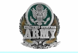 """<BR>                U.S. ARMY LAPEL PIN<Br>                LEAD & NICKEL FREE!!<Br>W15083P - """"UNITED STATES ARMY""""<br>               FROM $2.36 TO $5.25"""