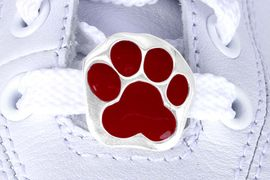 <Br>            US PATENT PENDING<Br>            EXCLUSIVELY OURS!!<Br>       AN ALLAN ROBIN DESIGN!<BR>           LEAD & NICKEL FREE!!<Br>W13266C - MAROON PAW PRINT<Br>      2-PIECE SHOE CHARM SET<BR>                 AS LOW AS $3.10