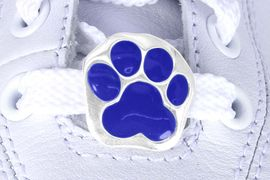 <Br>        US PATENT PENDING<Br>        EXCLUSIVELY OURS!!<Br>   AN ALLAN ROBIN DESIGN!<BR>       LEAD & NICKEL FREE!!<Br>W13272C - BLUE PAW PRINT<Br>  2-PIECE SHOE CHARM SET<Br>             AS LOW AS $3.10