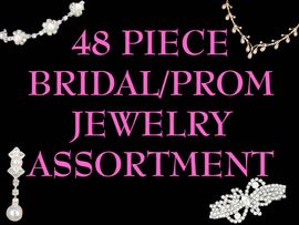 <BR> W10034JA - 48 PIECE BRIDAL/BRIDESMAID,<Br>   PROM, & AFTER-5 JEWELRY ASSORTMENT<br>                       FOR SMALL STORES OR<BR>                       BRIDAL CONSULTANTS<BR>                YOUR LOW PRICE IS $532.27