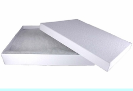 W10735JB - LARGE RECTANGULAR<Br>         WHITE JEWELRY GIFT BOX<Br>         YOUR LOW PRICE IS $1.63